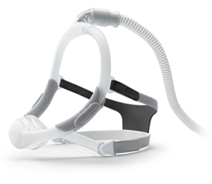 Image for DreamWisp Nasal CPAP Mask with Headgear - Fit Pack (S, M, L Cushions Included)