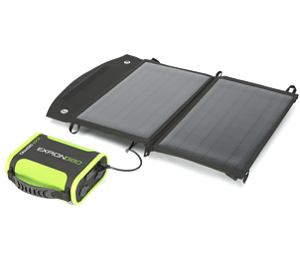 Image for EXP96 Pro Lithium Ion Battery + Portable Solar Panel Bundle