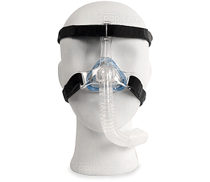 Current Style - Front View of the MiniMe 2 Nasal Pediatric Mask with Headgear in size Small (Mannequin Not Included)