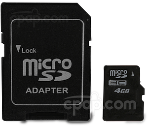Micro SD Memory Card - Shown with Adapter