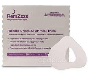 Image for RemZzzs Padded Full Face CPAP Mask Liners (30-day Supply)