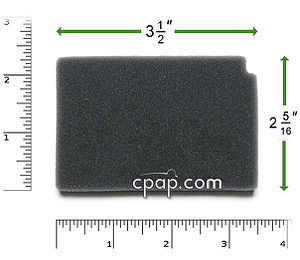 Image for Reusable Black Foam Filters for Respironics  Aria, Virtuoso, Duet, & Quartet (2 Pack)