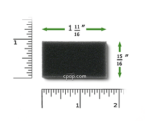 Image for Reusable Black Foam Filters for M Series, PR System One, 60 Series and SleepEasy Series (2 Pack)